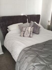 Grey kingsize bed