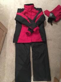 Ladies ski jacket and salopettes