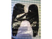 Fancy dress black feather wings New