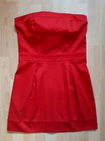 MANGO RED PARTY EVENING DRESS SIZE MEDIUM