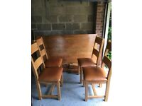 Oak Dining Table with 4 Chairs