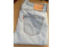 Levi 501 Jeans 36 x 32 Washed Out Look