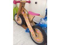 Girls balancing bike