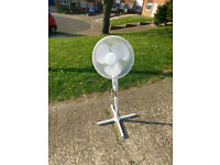 Pedestal Electric Fan - White