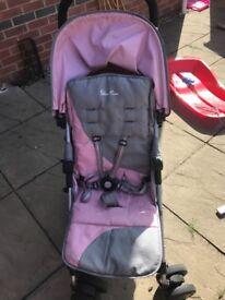 Sliver Cross Pop Stroller (Vintage Pink)