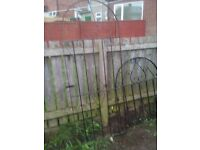 Metal garden gates 1 small front one porch/back gate