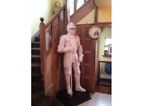8FT TALL MEDIEVAL KNIGHT STATUE