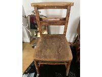 Vintage original Church Chairs x 4