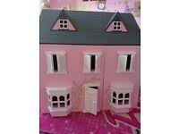 Dolls house including furniture.