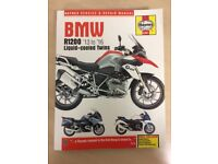 BMW gs1200lc motorbike service manual Haynes 2013 to 2016, used once- now sold bike
