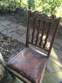 4 Victorian style chairs ideal little project