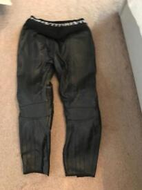 Motorcycle leather trousers unisex