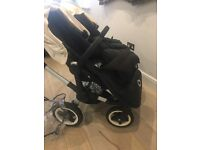 Used 3 times bugaboo donkey cream wheels still brand new!