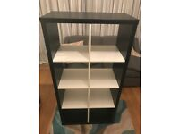 Ikea Kallax Shelves - Black + White - Fantastic Condition