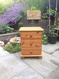 Chunky pine bedside cabinet/ storage