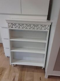 Laura Ashley white vintage shelf unit
