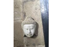Stone Buddha head - ornament with hook