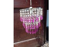 Attractive and lovely crystal lamp shade