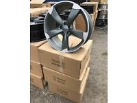 "4 18"" alloy wheels alloys rims tyre tyres vw Volkswagen seat Skoda audi 112 caddy"