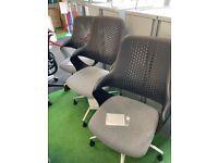 Boss Design Coza Mesh Back Designer Office Chair, Black/Grey