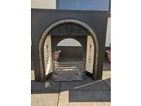 Fireplace – Fire Place Tiled Insert, Hearth, Wooden Surround. Sold as 1 or 3 individual items.