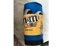 M&M World collectible blanket