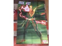Large marvel promo poster. Iron fist.