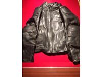 Frank Thomas leather motorcycle jacket