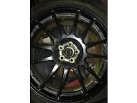 "19"" oz superleggera Subaru Impreza alloys and tyres"