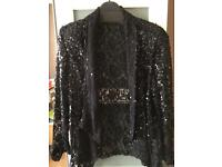 Beautiful lace sequin jacket size 20