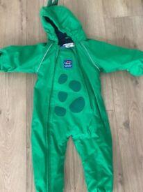 Dinosaur snowsuit 9-12 months Jojo Maman Bebe