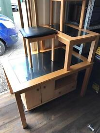 Furniture matching set / 6 chairs and dining table / tv cabinet and coffee table