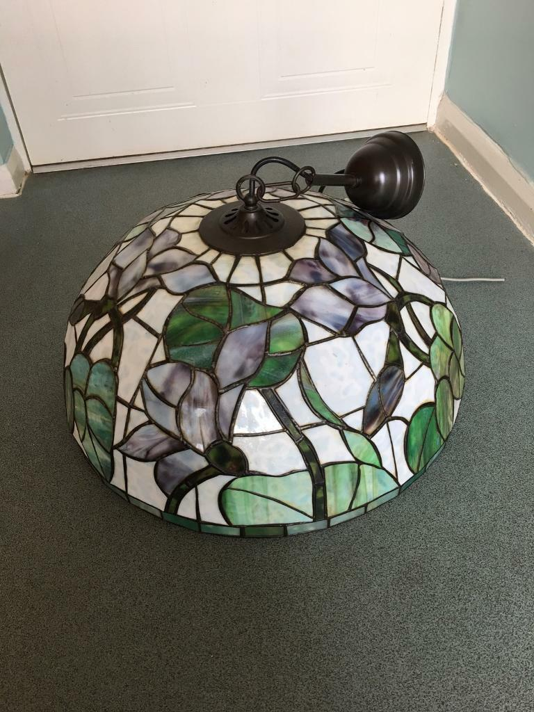 Beautiful Tiffany style vintage stained glass lightin Plymouth, DevonGumtree - Photos do not do it justice, its a beautiful stained glass large vintage Tiffany design light fighting. 50cm across. £60 ovnoPlease contact me for any more info, collection only