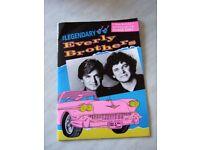 Everly Brothers (plus Duane Eddy) 1991 Pictorial Promo Souvenir Brochure