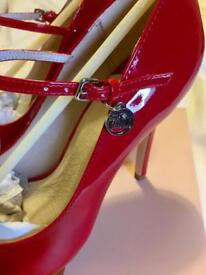 Faith Red patent shoes. Brand new. Size 5 (38). Boxed