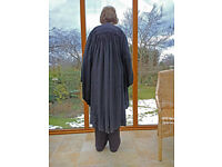 Academic gown , hardly worn, made by Ede & Ravenscroft. see images.