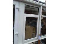 Two Double glazed window frames upvc one opening Yeovil, Somerset