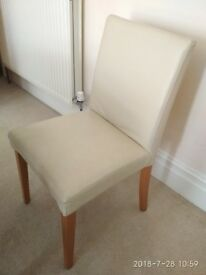 4 x classic beige leather chairs in a great condition