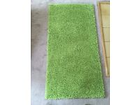 Two x Lime Green Rugs from Next - one Brand New!