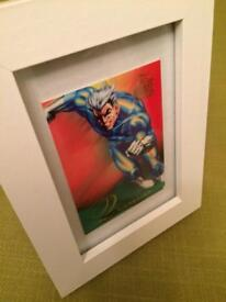 Marvel QUICKSILVER 1995 Flair Framed Trading Card