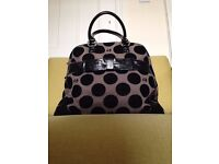 Lulu Guinness Flocked Dot Suzy Bag