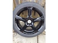 4x 17 inch wolfrace alloy wheels with brand new tyres