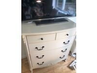 Cream chests of drawers