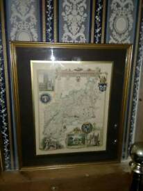 PAIR OF VINTAGE MAP PICTURES