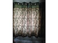 Dunelm Eyelet Lined Curtains with matching cushion covers and luxury quilted bedspread