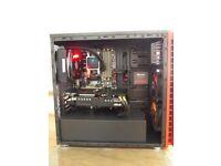 gaming pc 8gb rx 580 liquid cooled ,ssd 1tb 4.8ghz x4