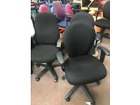 Black Computer Adjustable Chair with Arms