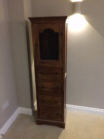 Tall wooden cabinet (45cm w, 38cm d, 170cm tall)