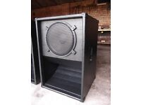 A pair of PA speakers for sale