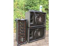 150 watt pa 2 x pevey speakers